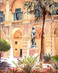 The Palace Courtyard, Valletta